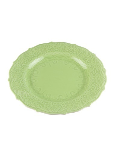 Kanca Ev Dantel Yemek Tabağı, 26Cm. Yeşil Yeşil
